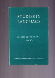 Studies in Language 2000_1